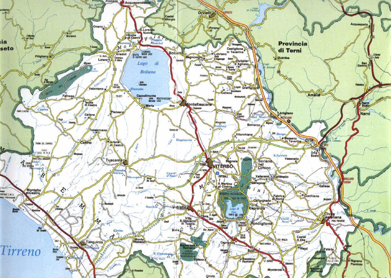 Cartina Geografica Di Viterbo E Provincia.A G Tur Ass Ne C Le Guide Turistiche Viterbo Cartina Provincia Di Viterbo